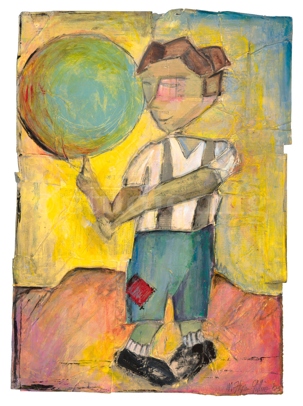 boy with baloon